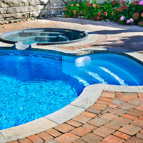 Outdoor Swimming Pool In Garden