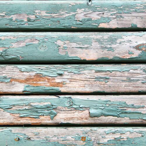 Peeling Paint On Garden Bench