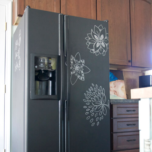 How to make your boring appliances look incredible for Chalkboard appliance paint
