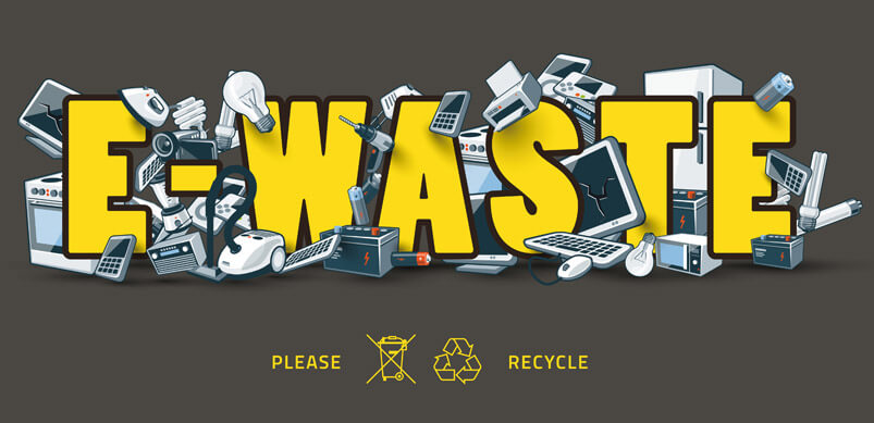 E-Waste Graphic With Scrapped Appliances