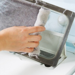 Removing Lint From Tumble Dryer