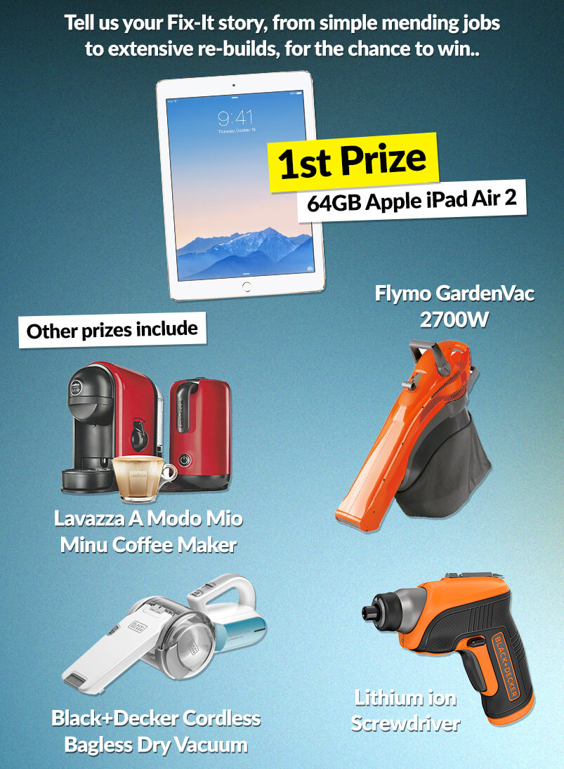 win one of five amazing prizes