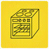 Black Oven On Yellow Background