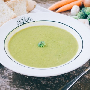 Broccoli Soup In Bowl