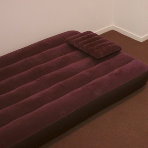 Burgundy Air Mattress Inflated