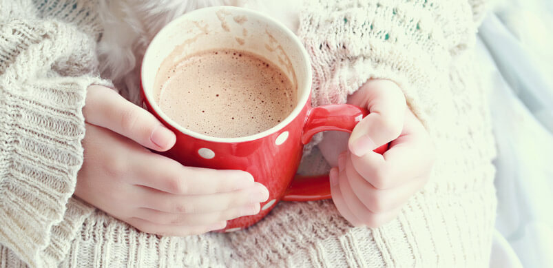 Hands Holding Hot Cocoa