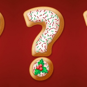 Iced Christmas Cookie Question Mark