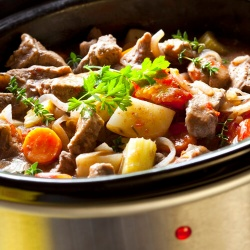 Slow Cooker With Beef Stew