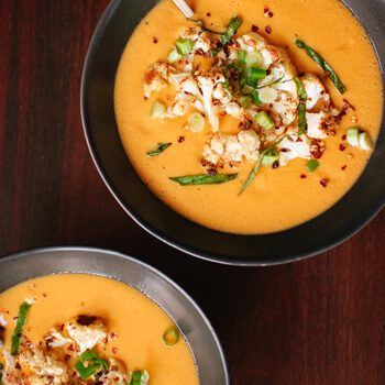 Thai Curried Cauliflower Winter Soup