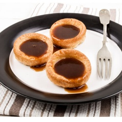 Yorkshire Puddings Filled With Gravy