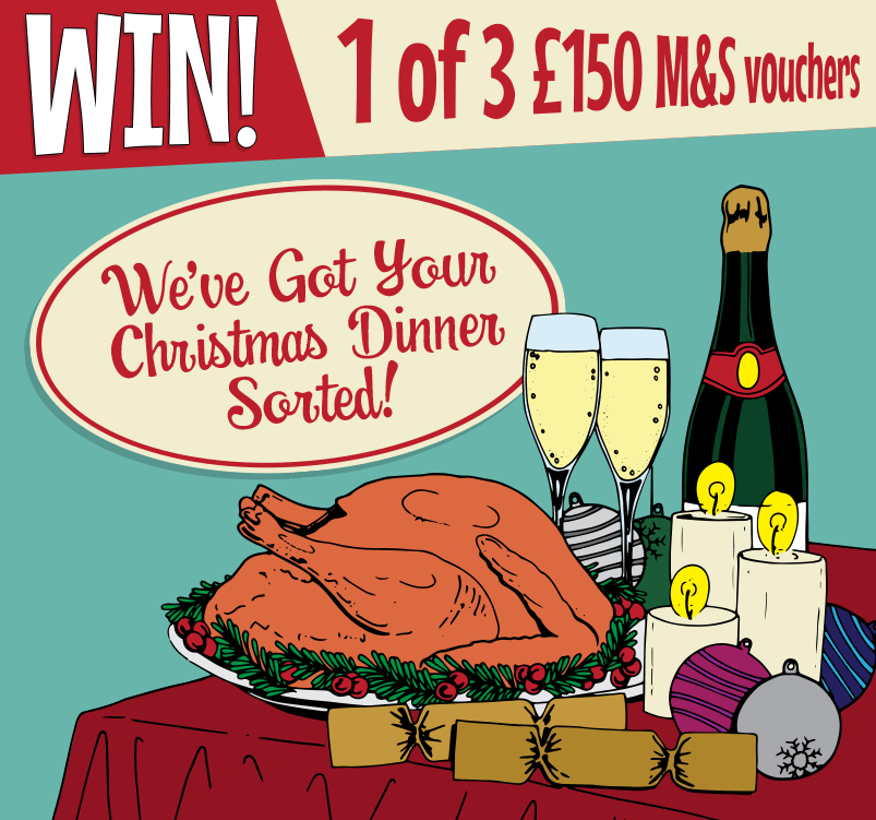win 1 of 3 £150 M&S vouchers