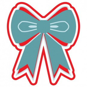 Blue And Red Christmas Bow Graphic