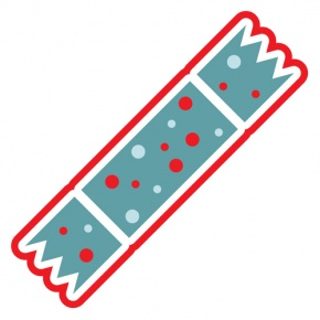 Blue And Red Christmas Cracker Graphic