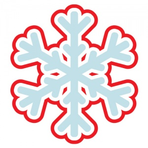 Blue And Red Snowflake Graphic