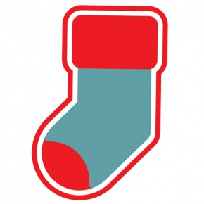 Blue And Red Christmas Stocking Graphic