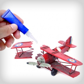 Fixing Toy Aeroplane With Glue