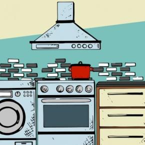 Kitchen Graphic With Kitchen Appliances
