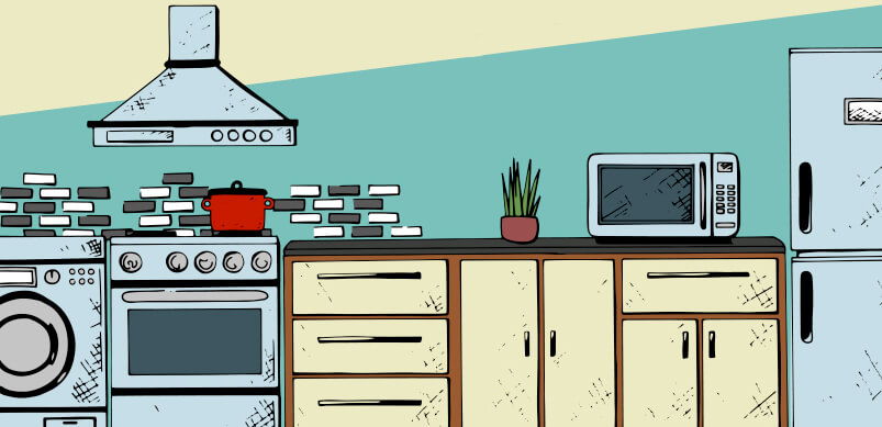 Kitchen Graphic With Kitchen Appliances