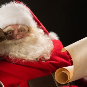 Santa Claus Reading From List
