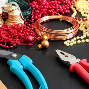 Tools And Christmas Decorations