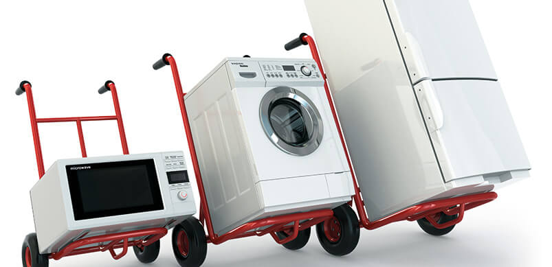 Appliances On Moving Wheels