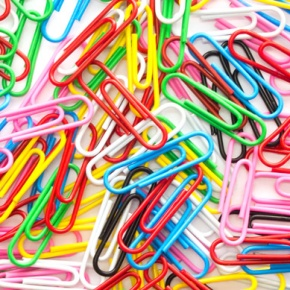 Pile Of Colourful Paper Clips