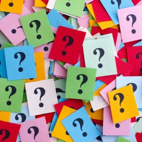 Colourful Riddles Question Mark Collage