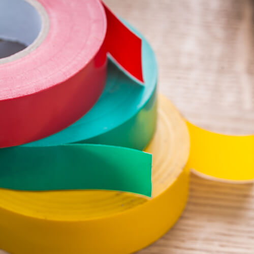 Selection Of Colourful Electric Tape