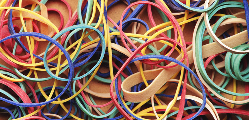 Colourful Rubber Band Selection