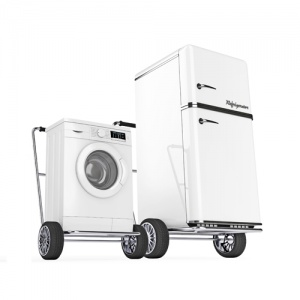Moving Washing Machine And Dishwasher On Trolleys