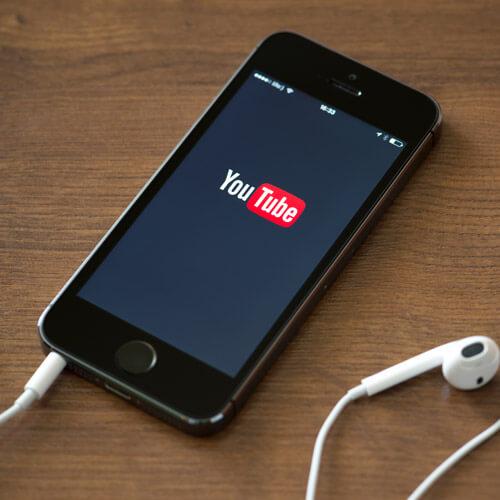 YouTube On Phone Screen