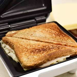Cheese And Ham Toastie In Toastie Maker