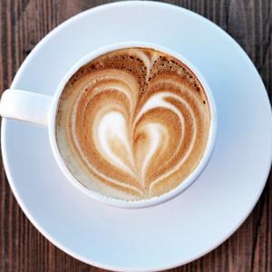 Coffee With Heart Shaped Foam