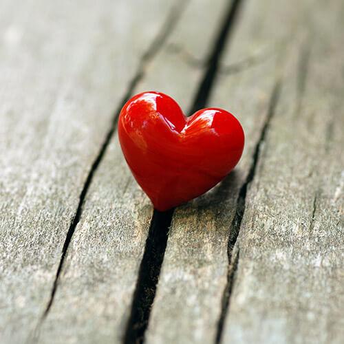 Heart On Wooden Plank