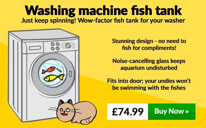 Washing Machine fish tank