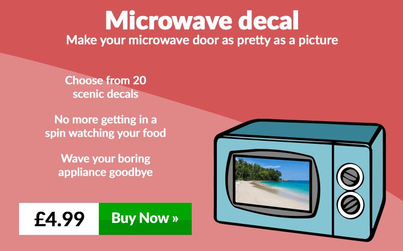 Microwave decal