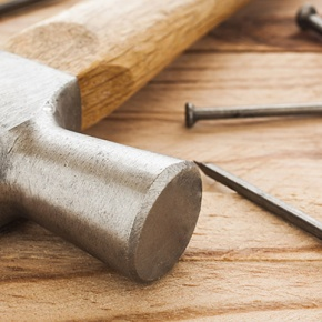 Hammer, Nails And Fix It Tools