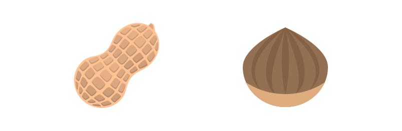 Peanut And Hazelnut Emojis