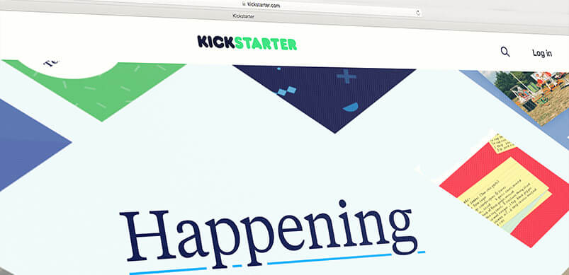 Screenshot Of Kickstarter Website