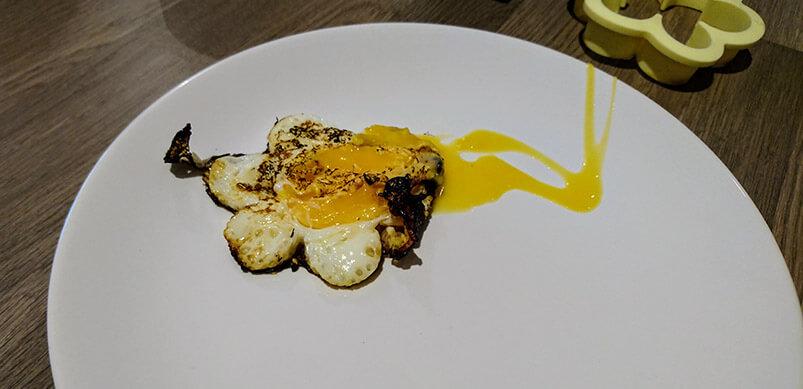 Burnt Egg In Shape Of Flower