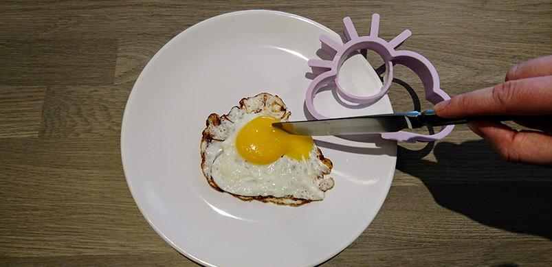 Cutting Open A Runny Egg Yolk