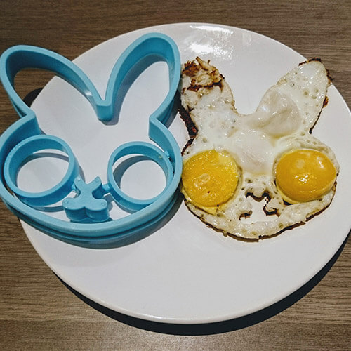 Fried Egg In The Shape Of A Bunny