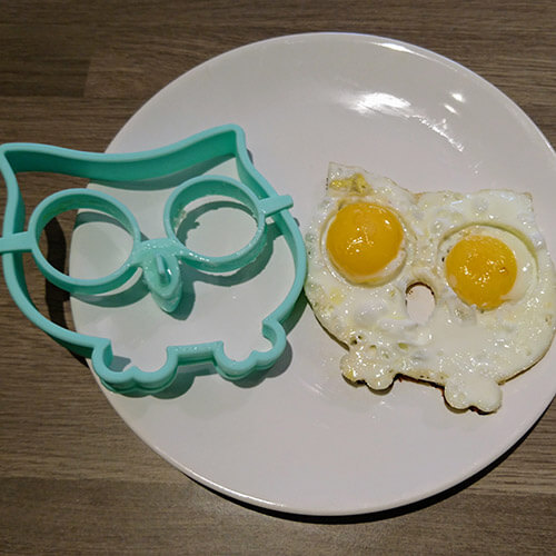 Fried Egg In The Shape Of An Owl