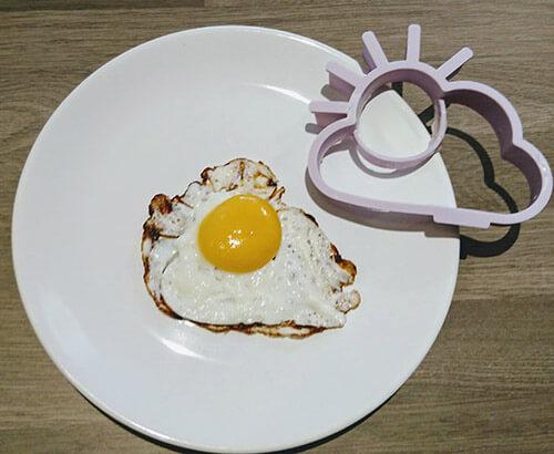 Fried Egg Shaped Like A Sun
