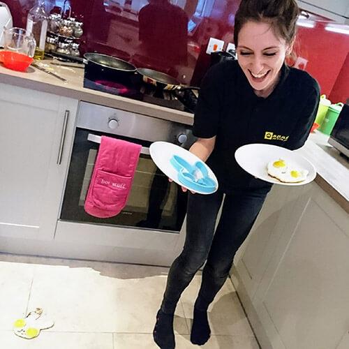 Mariya Dropping Egg On The Floor
