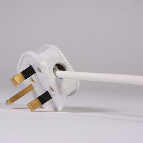 Plug On White Background