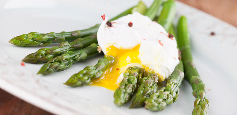 Asparagus With Poached Egg On Top