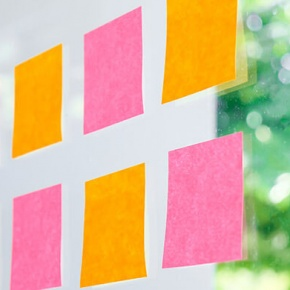 Post It Notes Stuck To Window