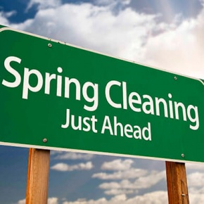 Spring Cleaning Just Ahead Sign