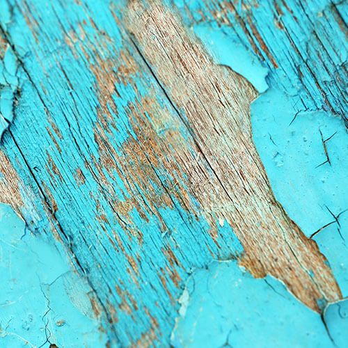 Blue Paint Peeling Off Wood